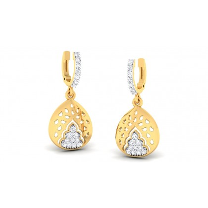 SAI DIAMOND DROPS EARRINGS in 18K Gold