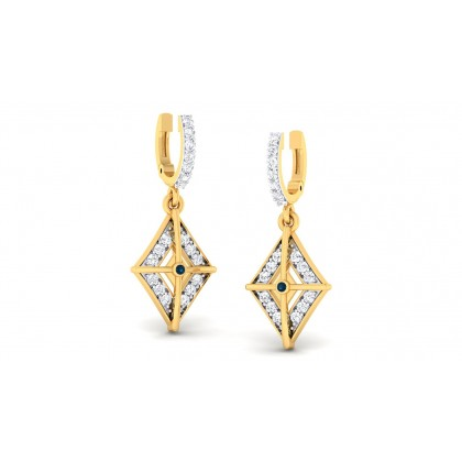 RESHAM DIAMOND DROPS EARRINGS in 18K Gold