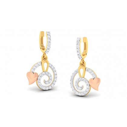 REBECA DIAMOND DROPS EARRINGS in 18K Gold