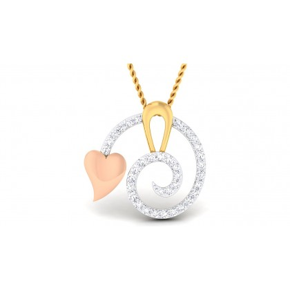 MATRA DIAMOND HEARTS PENDANT in 18K Gold