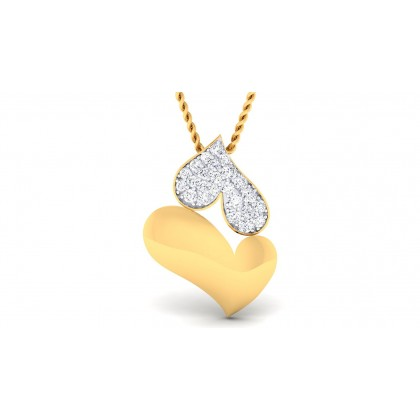 RILEY DIAMOND HEARTS PENDANT in 18K Gold