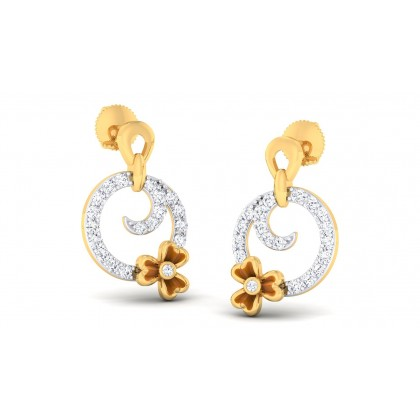AISHANI DIAMOND DROPS EARRINGS in 18K Gold