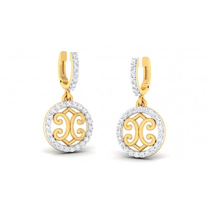 VAINAVI DIAMOND DROPS EARRINGS in 18K Gold