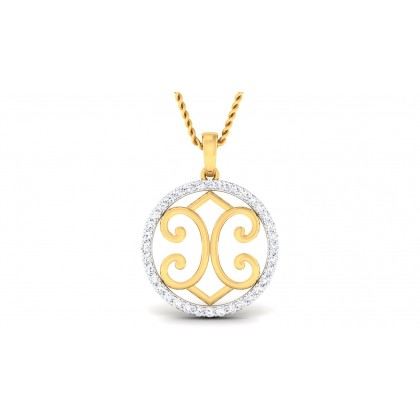 MOHANA DIAMOND FASHION PENDANT in 18K Gold