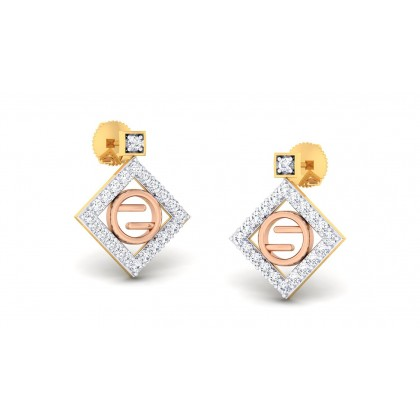 SUSHAMA DIAMOND STUDS EARRINGS in 18K Gold