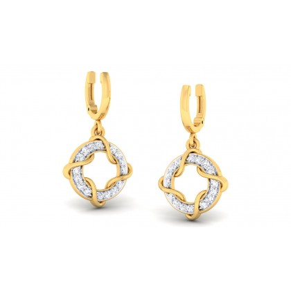 ASHITA DIAMOND DROPS EARRINGS in 18K Gold