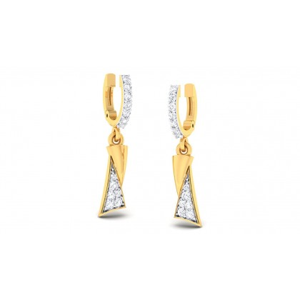 TITHI DIAMOND DROPS EARRINGS in 18K Gold