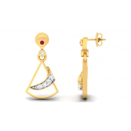 MANDA DIAMOND DROPS EARRINGS in 18K Gold