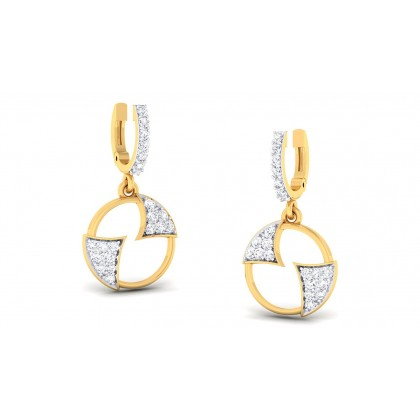 AGRIMA DIAMOND DROPS EARRINGS in 18K Gold