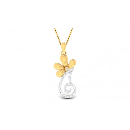 AJITA DIAMOND FLORAL PENDANT in 18K Gold