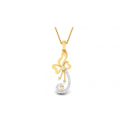 TYLER DIAMOND FASHION PENDANT in 18K Gold