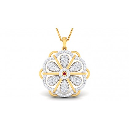 BRITNEY DIAMOND FASHION PENDANT in 18K Gold