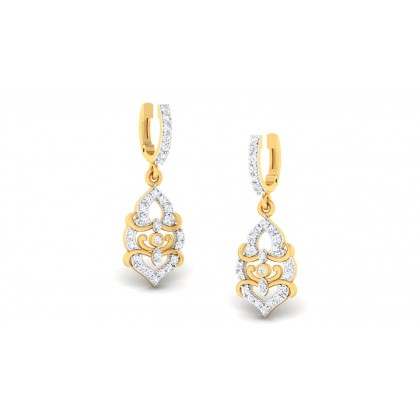 ABHIRI DIAMOND DROPS EARRINGS in 18K Gold