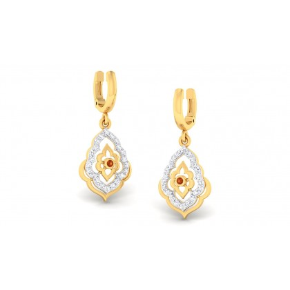 VANMAYI DIAMOND DROPS EARRINGS in 18K Gold