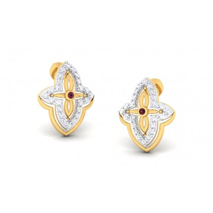 PUSTI DIAMOND STUDS EARRINGS in 18K Gold