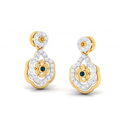 VIMUDHA DIAMOND DROPS EARRINGS in 18K Gold
