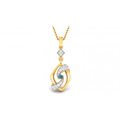 SUMA DIAMOND FASHION PENDANT in Sapphire & 18K Gold