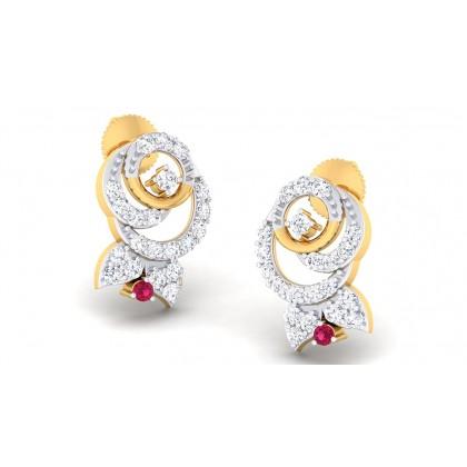 ALYSE DIAMOND STUDS EARRINGS in 18K Gold