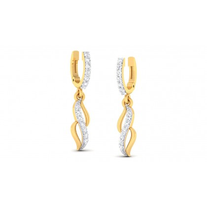 MANINI DIAMOND DROPS EARRINGS in 18K Gold