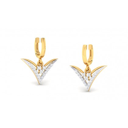 JOSHILA DIAMOND DROPS EARRINGS in 18K Gold