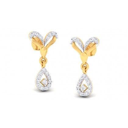 DIYA DIAMOND DROPS EARRINGS in 18K Gold