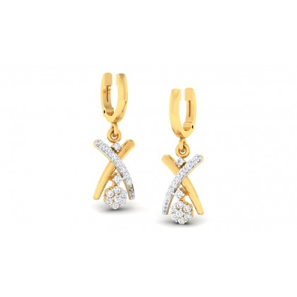ANKAL DIAMOND DROPS EARRINGS in 18K Gold