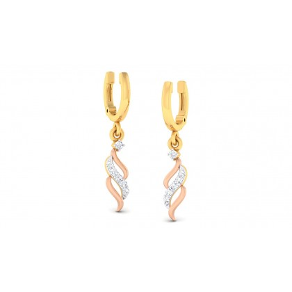 TANUJA DIAMOND DROPS EARRINGS in 18K Gold