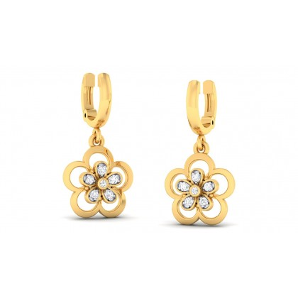 URMI DIAMOND DROPS EARRINGS in 18K Gold