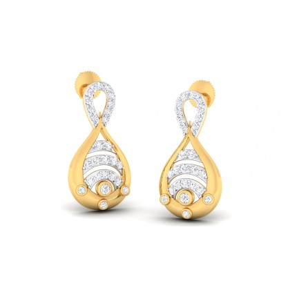RUTH DIAMOND STUDS EARRINGS in 18K Gold