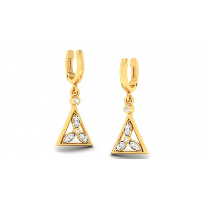HARSHA DIAMOND DROPS EARRINGS in 18K Gold