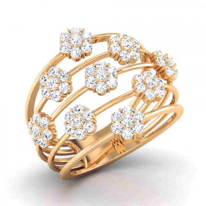 GANGA DIAMOND COCKTAIL RING in 18K Gold