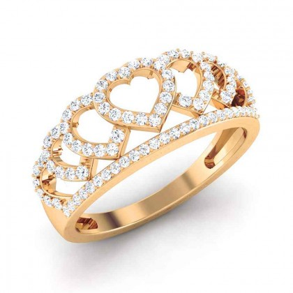 PAVI DIAMOND CASUAL RING in 18K Gold