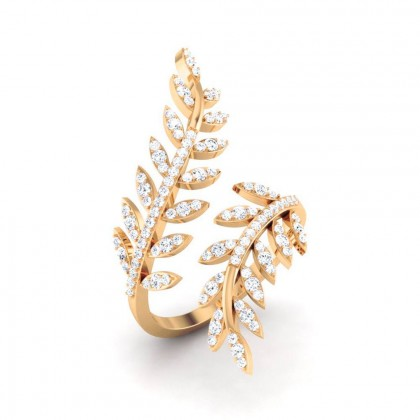 DIVYA DIAMOND CASUAL RING in 18K Gold