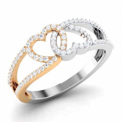 MADILYN DIAMOND CASUAL RING in 18K Gold
