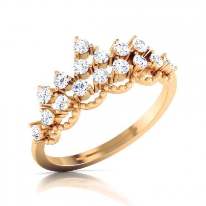 SHANSA DIAMOND COCKTAIL RING in 18K Gold