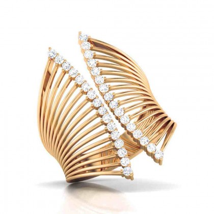 ASTHA DIAMOND CASUAL RING in 18K Gold