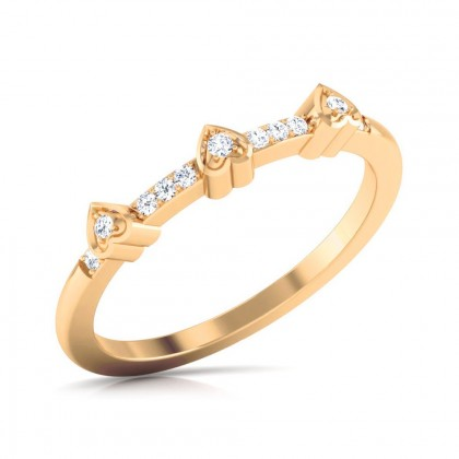 NOUR DIAMOND CASUAL RING in 18K Gold