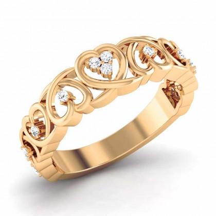 AMITA DIAMOND CASUAL RING in 18K Gold