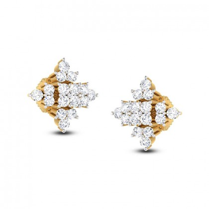 MARIE DIAMOND STUDS EARRINGS in 18K Gold