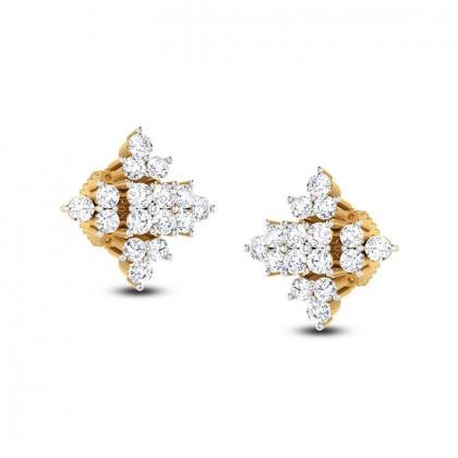 MARIE DIAMOND STUDS EARRINGS in 18K Gold