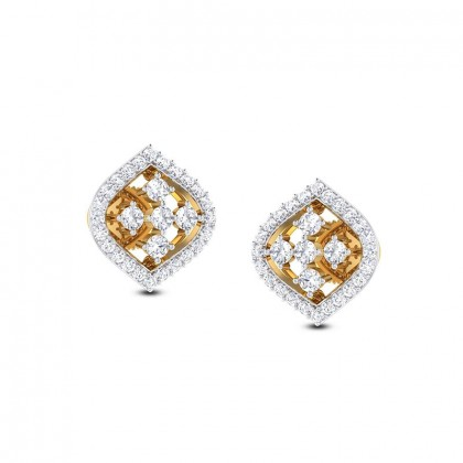 TINA DIAMOND STUDS EARRINGS in 18K Gold