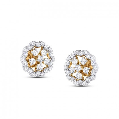 AMI DIAMOND STUDS EARRINGS in 18K Gold