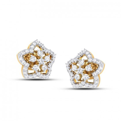 MIYA DIAMOND STUDS EARRINGS in 18K Gold