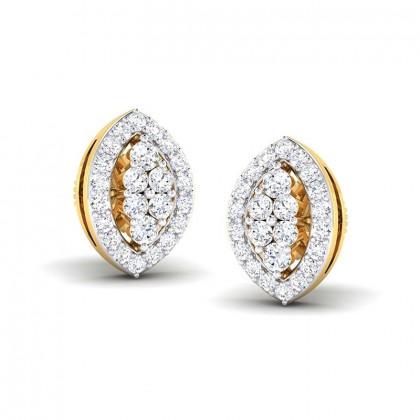 CAILYN DIAMOND STUDS EARRINGS in 18K Gold