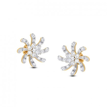 TERESA DIAMOND STUDS EARRINGS in 18K Gold