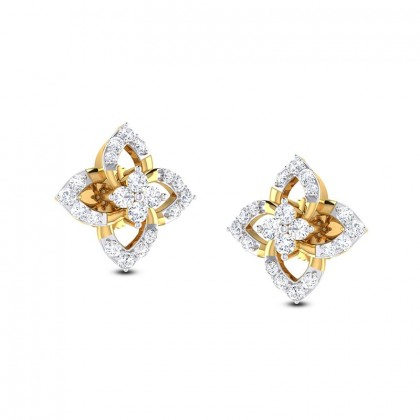 INDU DIAMOND STUDS EARRINGS in 18K Gold
