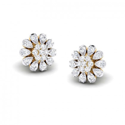 ROMI DIAMOND STUDS EARRINGS in 18K Gold