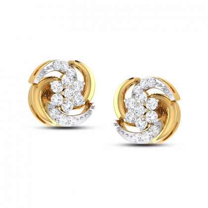 RACHANA DIAMOND STUDS EARRINGS in 18K Gold