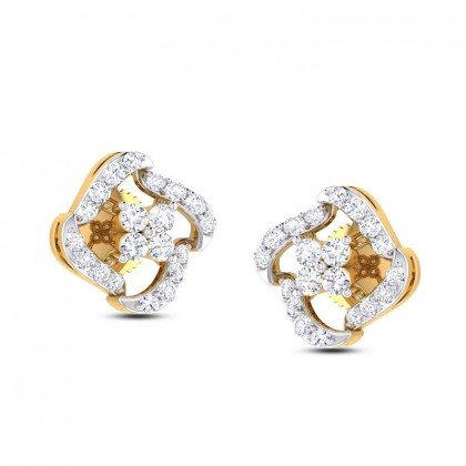 SONYA DIAMOND STUDS EARRINGS in 18K Gold