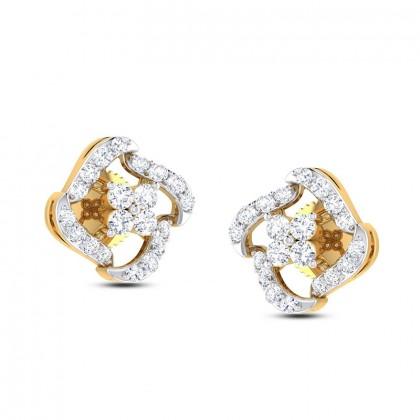 SONYA DIAMOND STUDS EARRINGS in 18K Gold
